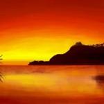 рисунок закат