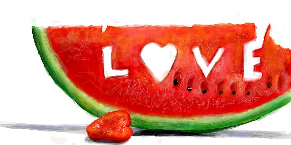 рисунок арбуз love