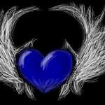 рисунок синее сердце