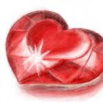 рисунок рубиновое сердце