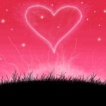 рисунок сердце в небе