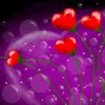 рисунок цветы сердца