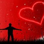 красивый рисунок сердца в небе
