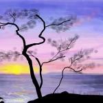 граффити в контакте красивый закат
