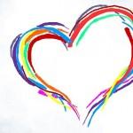 граффити на стену яркое сердце