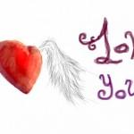 рисунок в контакте сердце с крыльями