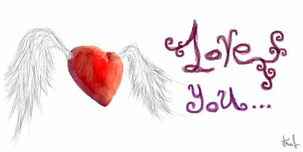 Граффити в контакте сердце с крыльями
