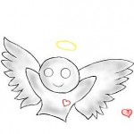 граффити на стену ангел и любовь
