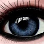 рисунок синий глаз