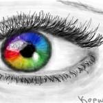 рисунок радужный глаз