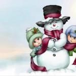 граффити в контакте снеговик и дети