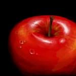 рисунок красное яблоко