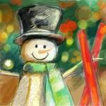 граффити в контакте новогодний снеговик