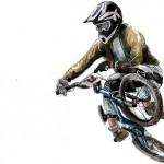 граффити на стену вело спорт