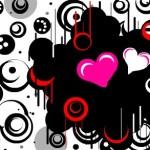 граффити на стену сердечки