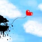 граффити на стену ангел и сердце