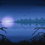 граффити в контакте ночное озеро