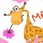 граффити в контакте жираф с 8 марта