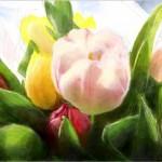 граффити в контакте весенние тюльпаны