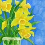 рисунок желтые цветы