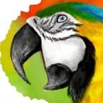 Граффити в контакте попугай