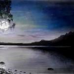 рисунок ночной пейзаж