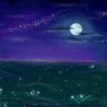 рисунок лунная ночь