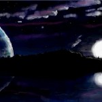 рисунок ночное небо