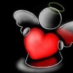 рисунок ангелок с сердцем