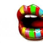 рисунок яркие губы