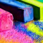 разноцветный мел