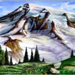 рисунок красивые горы