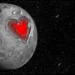 рисунок  в контакте сердце на луне