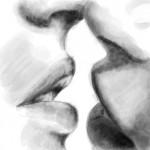 рисунок в контакте поцелуй
