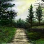 рисунки на стену в контакте лес