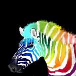 граффити рисунок радужная зебра