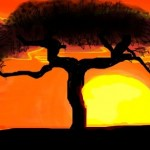 рисунок красивое дерево