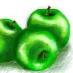 рисунок яблоки