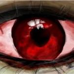 рисунок красный глаз