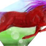 граффити на стену в контакте красный конь