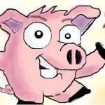 граффити на стену в контакте прикольная свинья