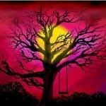граффити вконтакте луна и дерево