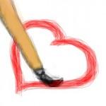 граффити вконтакте рисую сердце
