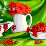 рисунки в контакте цветы и ягоды