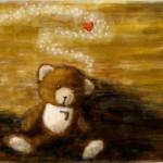 граффити влюбленный мишка