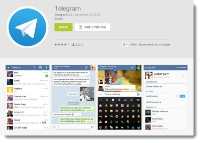 cтраница загрузки приложения telegram