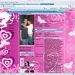 гламурная розовая тема для контакта ангелочки