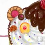 рисунок на стену тортик
