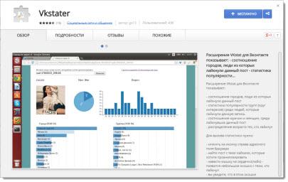 расширение vkstater для google chrome